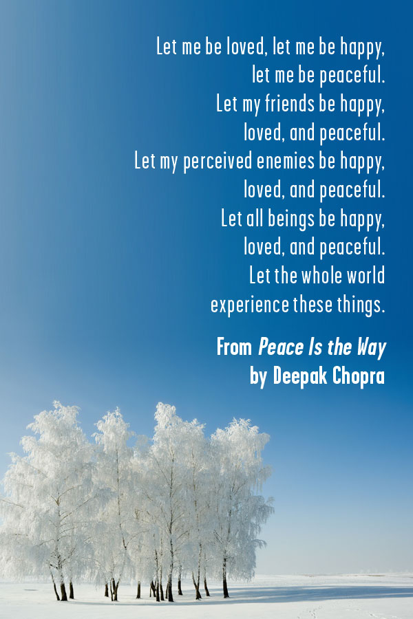 Prayer for peace from Deepak Chopra's book 'Peace Is the Way' | Gabby Bernstein's favorite prayers for peace
