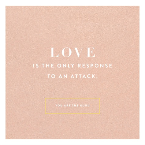 You Are the Guru quote, Love it the only response to an attack
