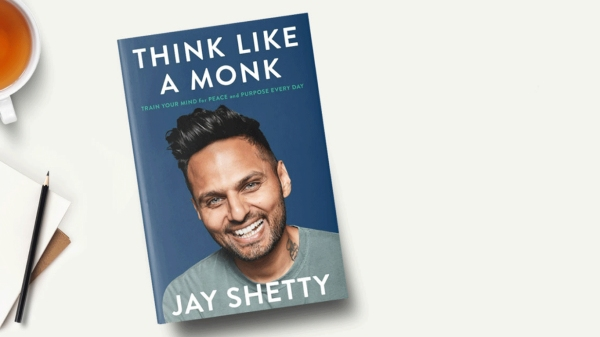 cover of jay shetty's book, think like a monk