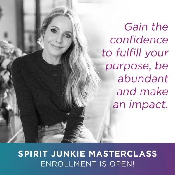 Gain confidence quote with gabby bernstein for spirit junkie masterclass.