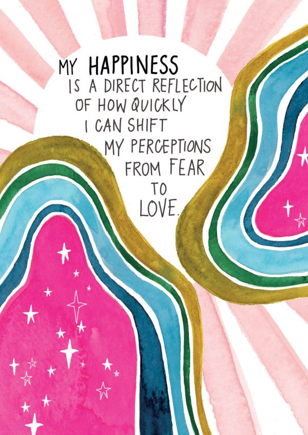 Happiness is a direct reflection spirit junkie card
