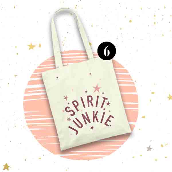 Spirit Junkie sustainable cotton tote bag