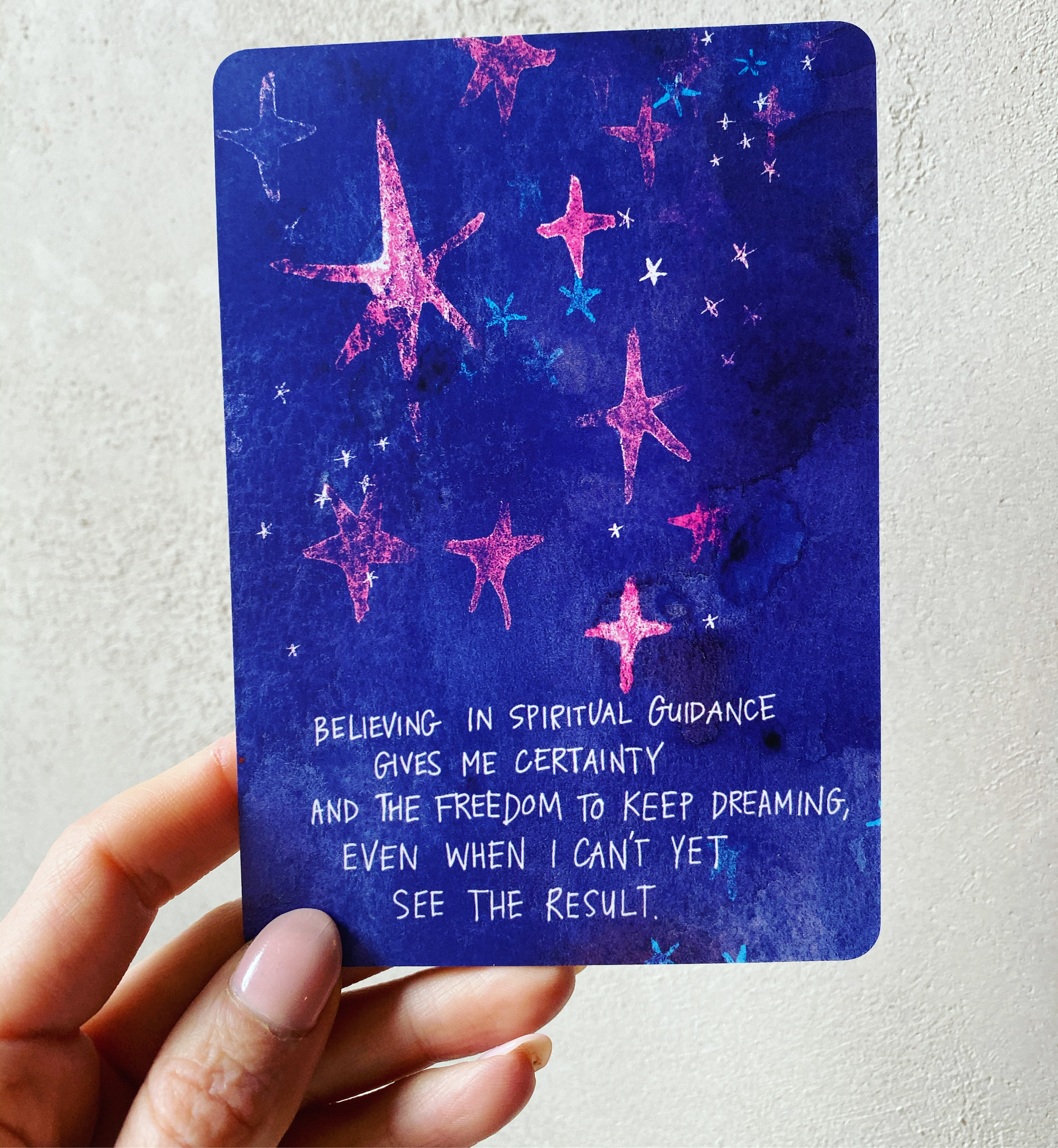 Believing in spiritual guidance gives me certainty and the freedom to keep dreaming, even when I can't yet see the result | Super Attractor card deck | Gabby Bernstein