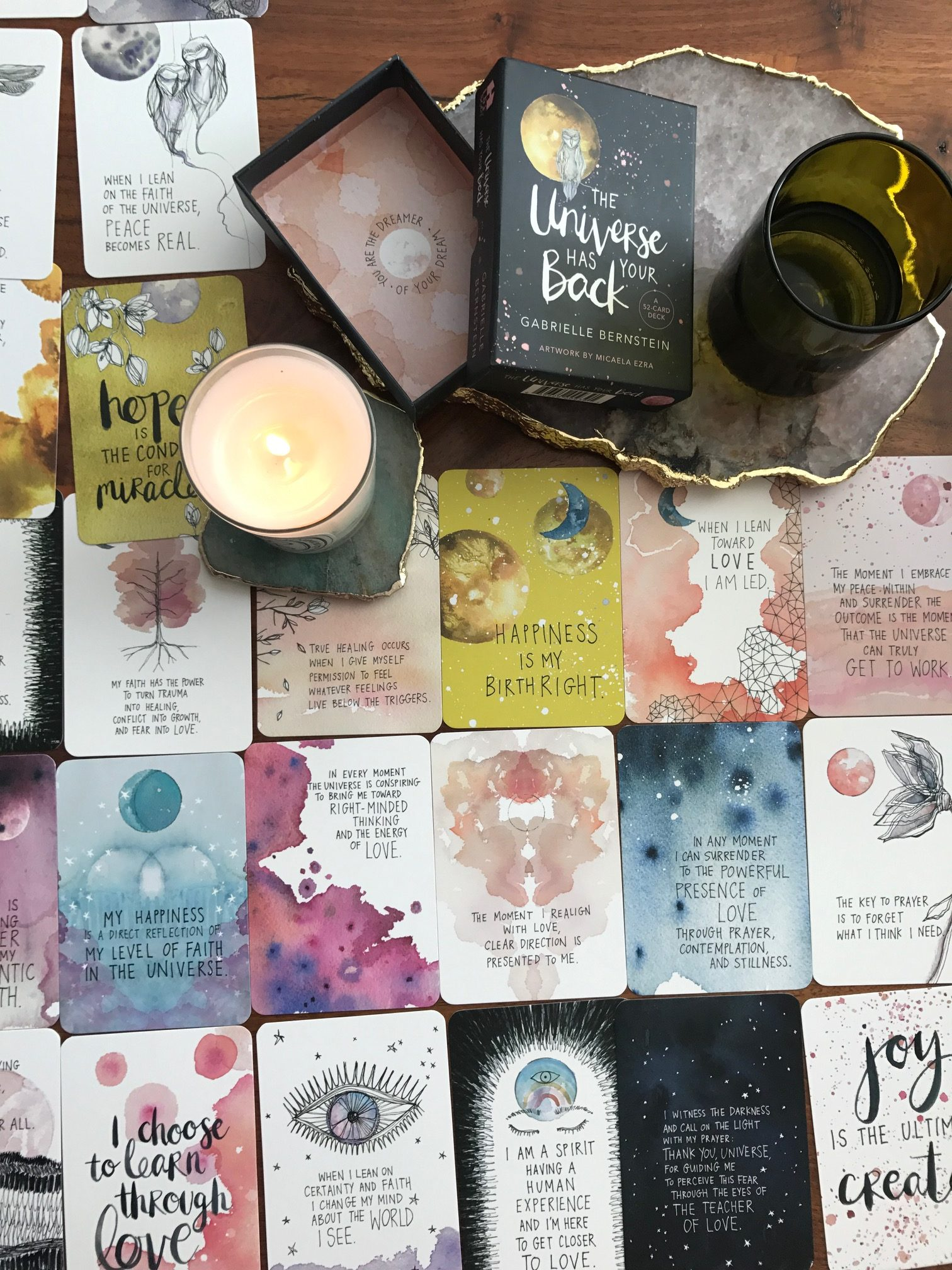 The Universe Has Your Back card deck and cards - by Gabby Bernstein