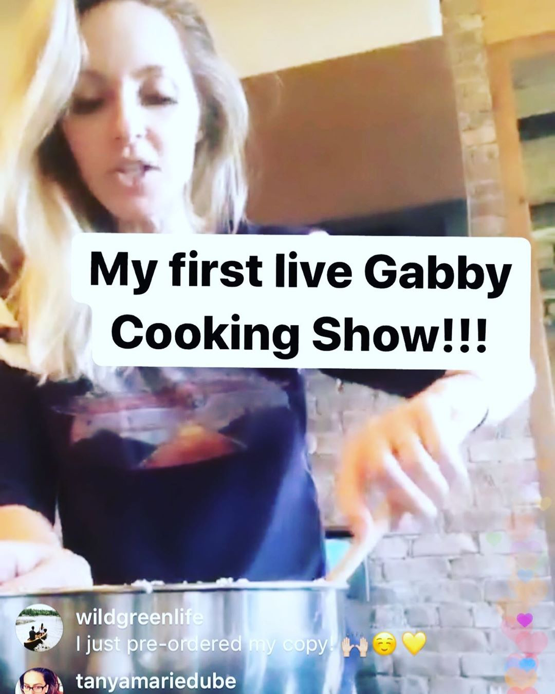 Gabby Cooking Show on IGTV