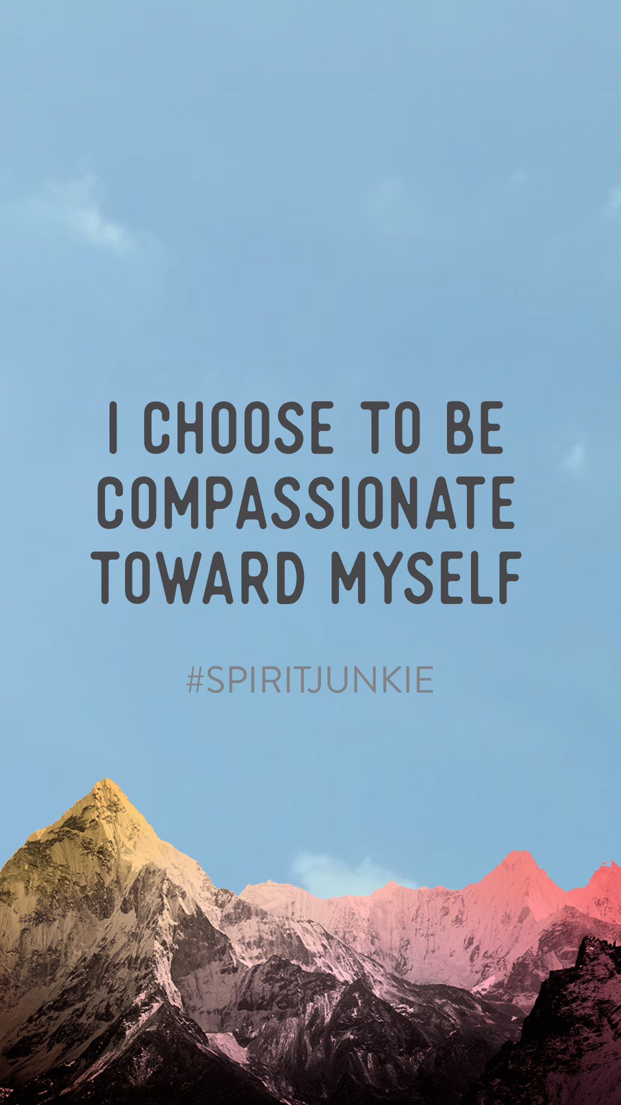 I choose to be compassionate toward myself | Gabby Bernstein Spirit Junkie App