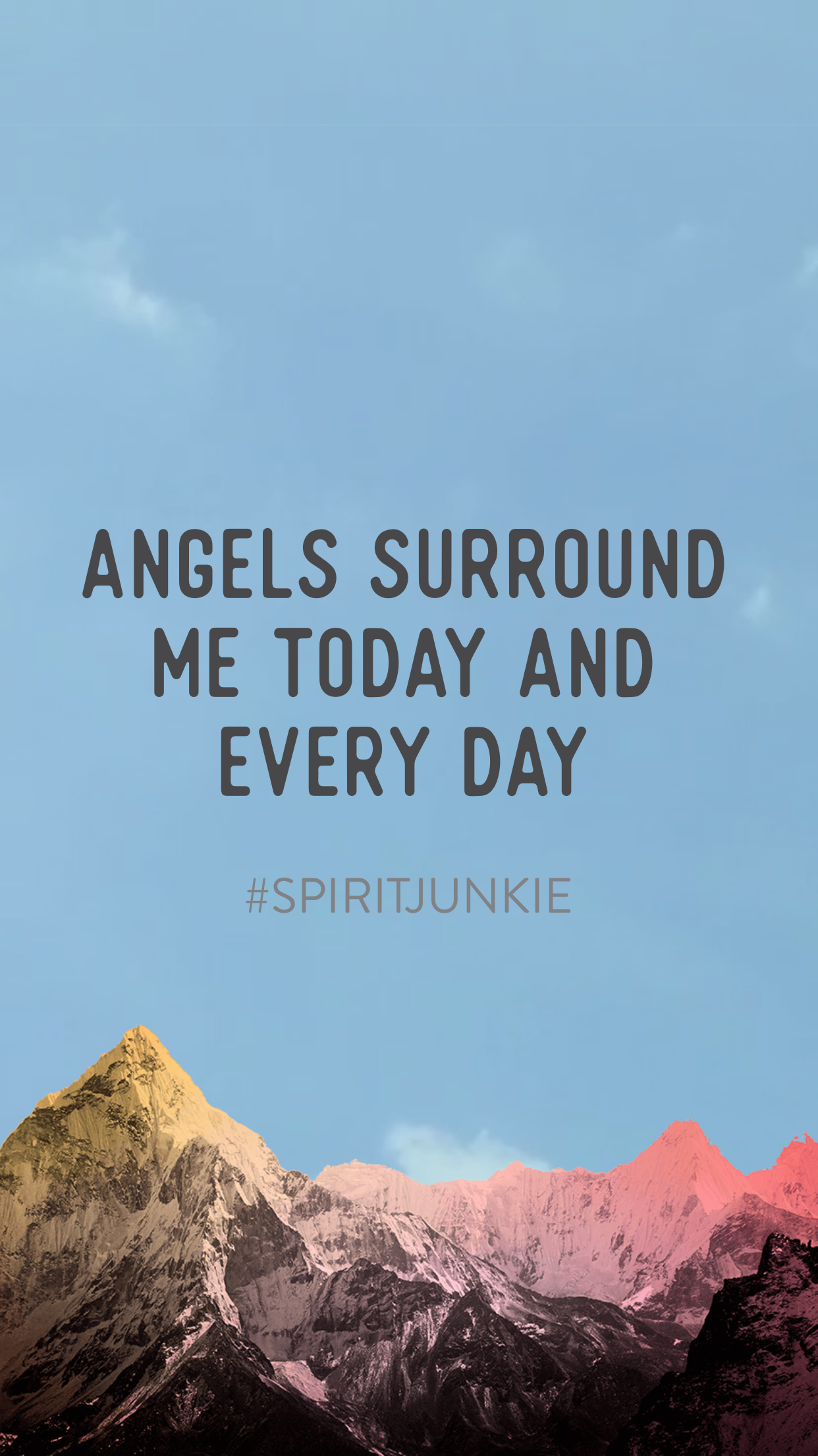 Angels surround me today and every day | Spirit Junkie App by Gabby Bernstein