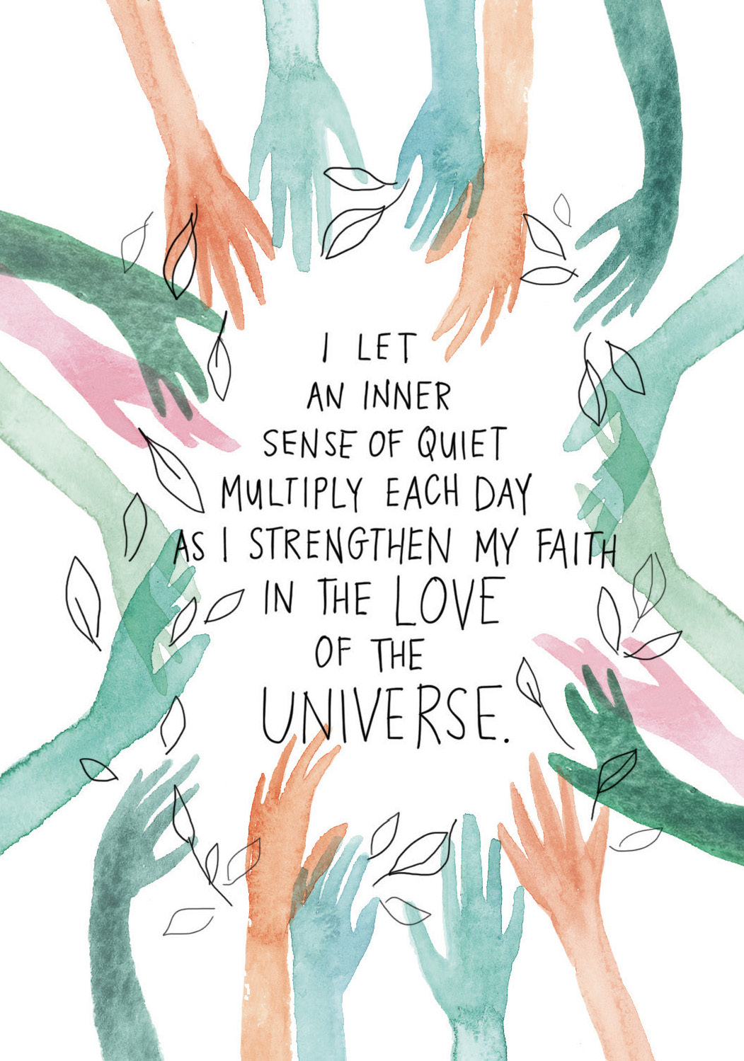 I let an inner sense of quiet multiply each day as I strengthen my faith in the love of the Universe | Super Attractor card deck
