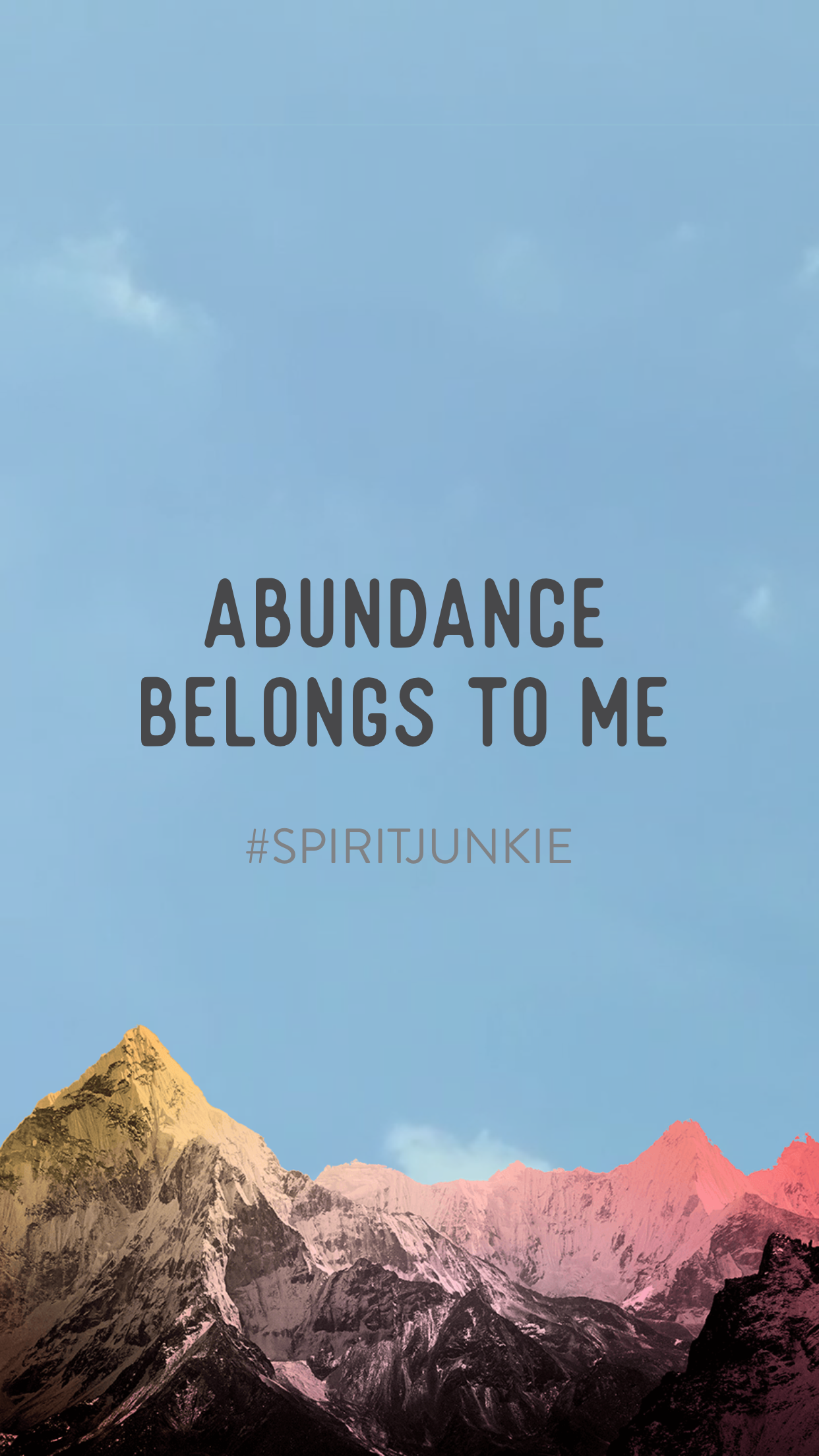 Abundance belongs to me | Spirit Junkie App by Gabby Bernstein