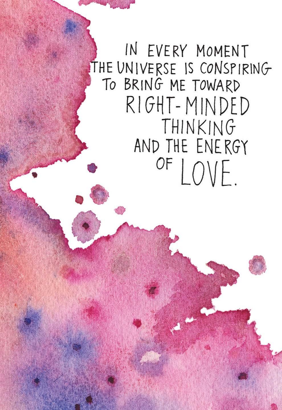 the universe is conspiring to bring me toward the energy of love gabby bernstein card deck