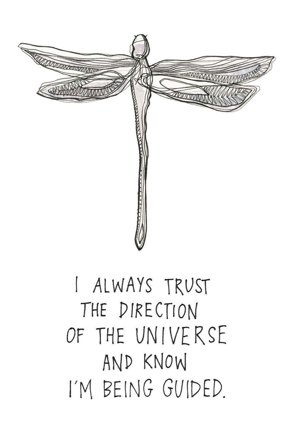I always trust in the direction of the Universe and know that I'm being guided. | Gabby Bernstein | The Universe Has Your Back card deck