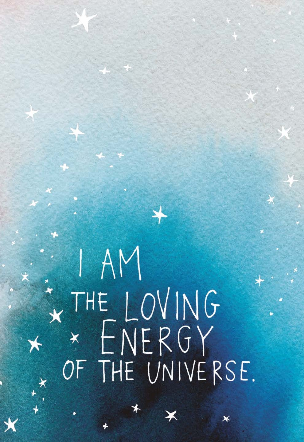 I am the loving energy of the Universe   Gabby Bernstein   The Universe Has Your Back card deck