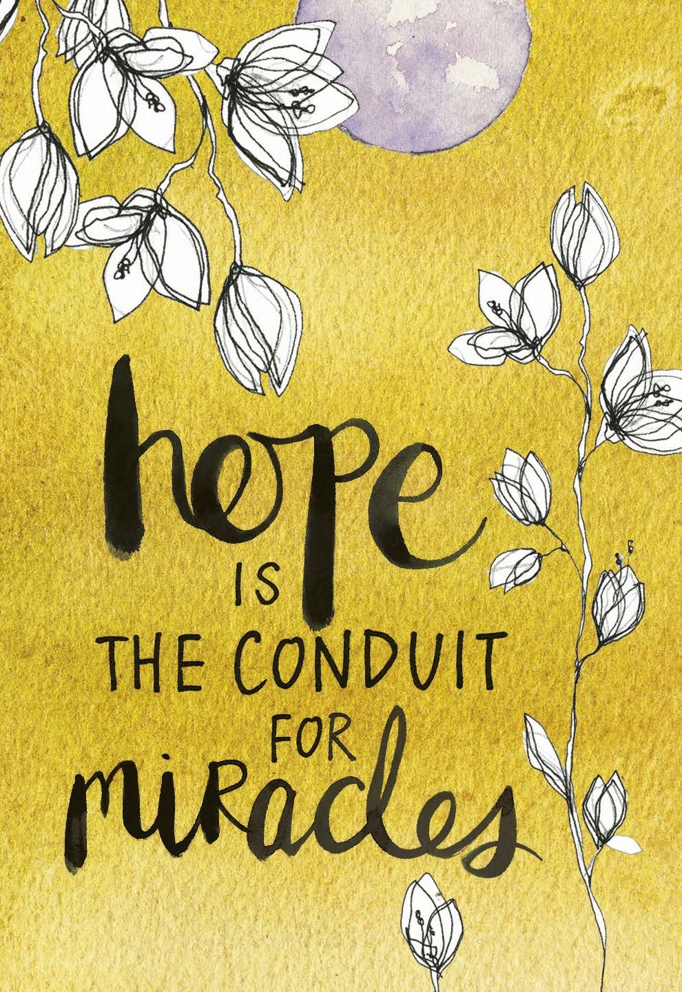 hope is the conduit for miracles | gabby bernstein card deck