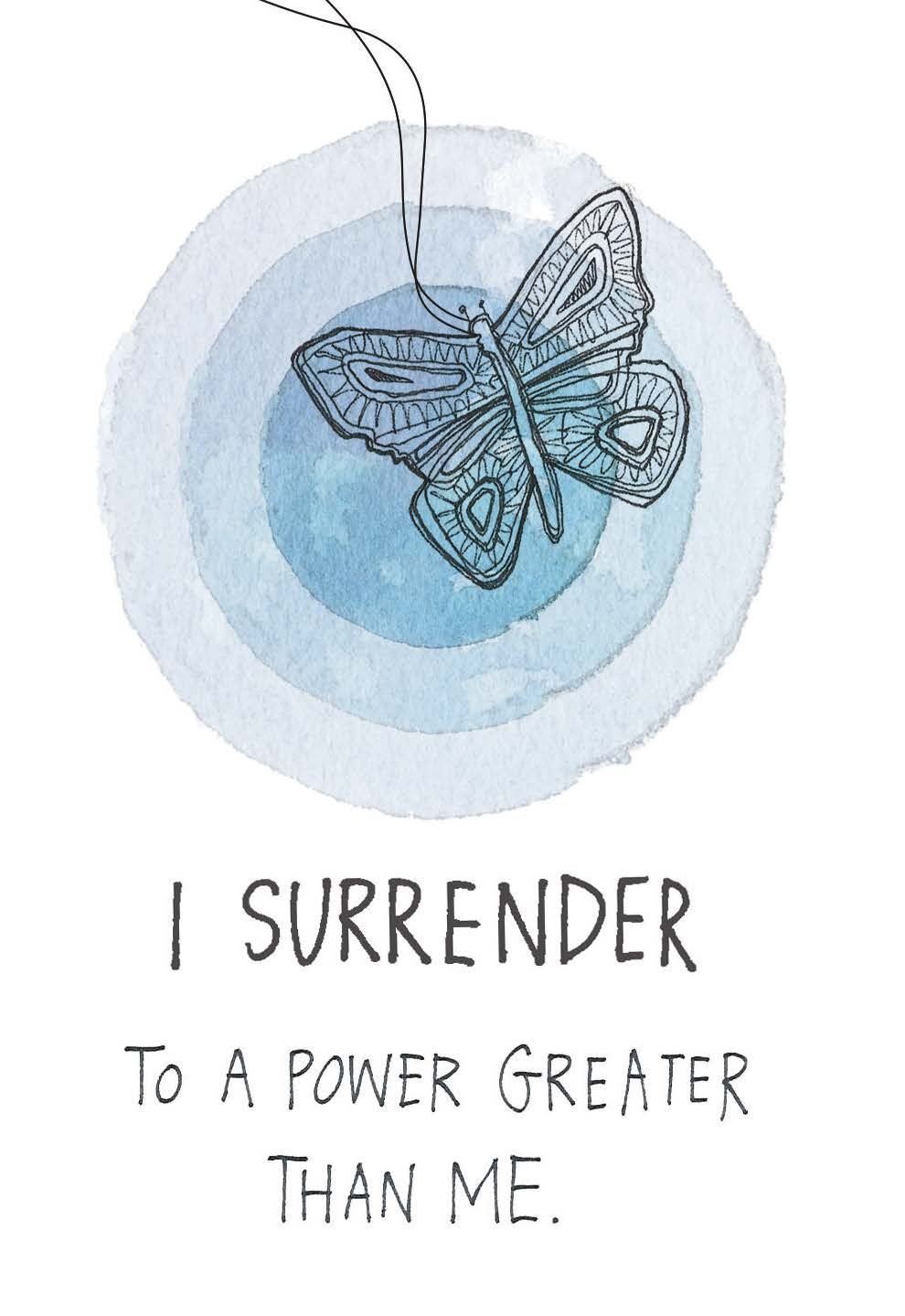 I surrender to a power greater than me | The Universe Has Your Back card deck
