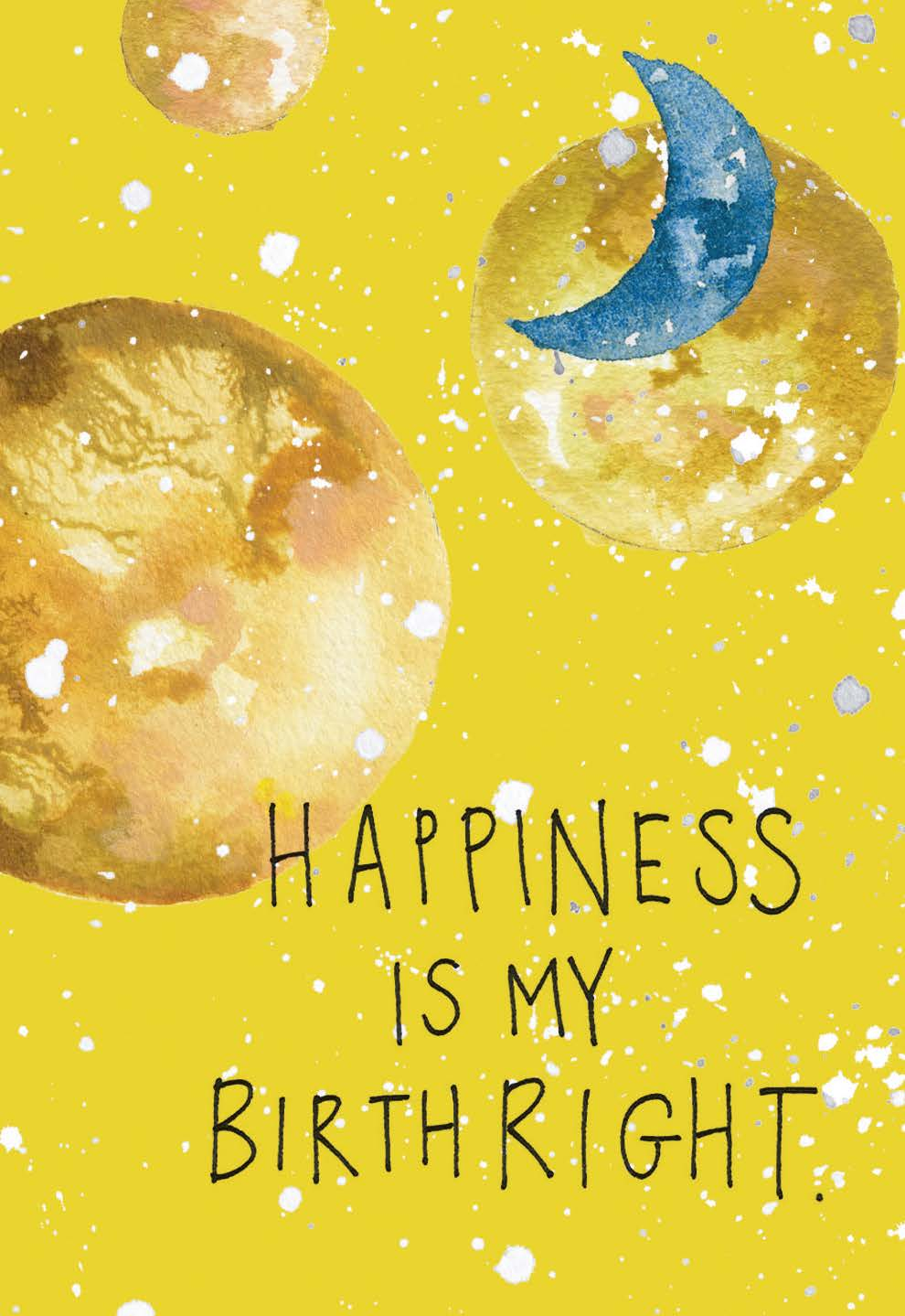 Happiness is my birthright | Gabby Bernstein | The Universe Has Your Back card deck