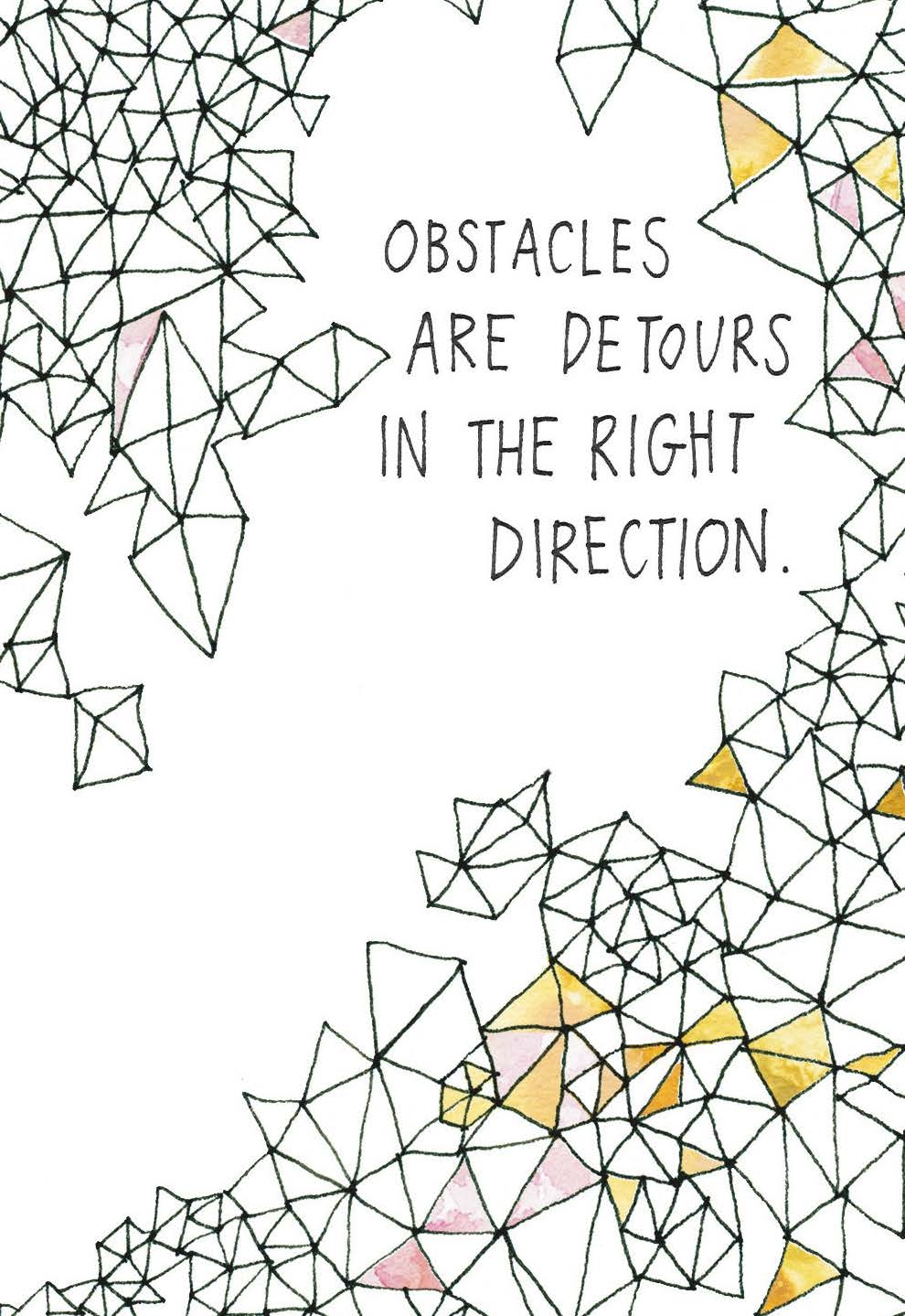 obstacles are detours in the right direction gabby bernstein card deck