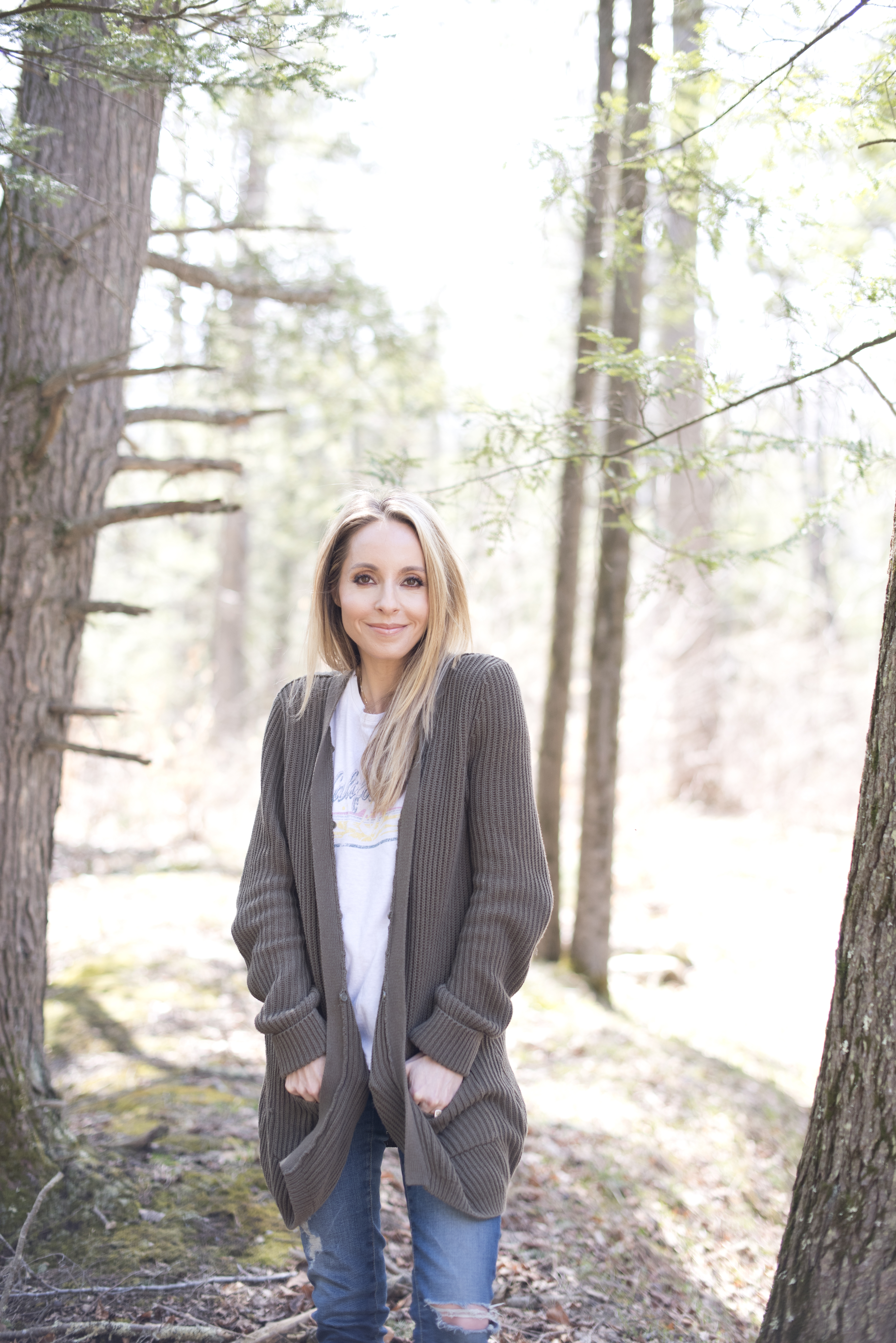 gabby bernstein taking a walk in the woods | beginner's guide to meditation