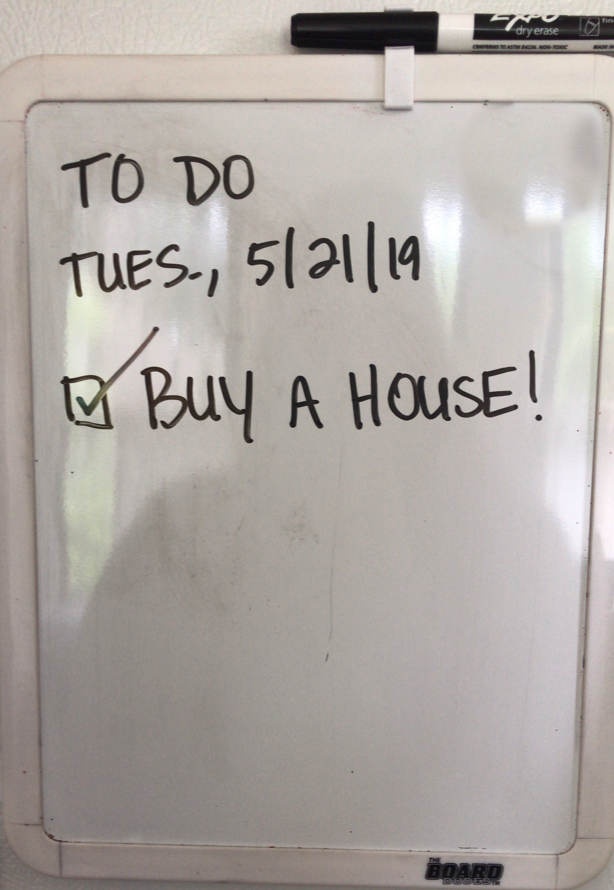 To do: Buy a house... check! | Dream home