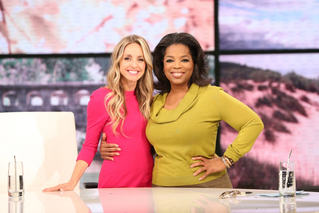 Gabby Bernstein and Oprah Winfrey on Oprah's show SuperSoul Sunday
