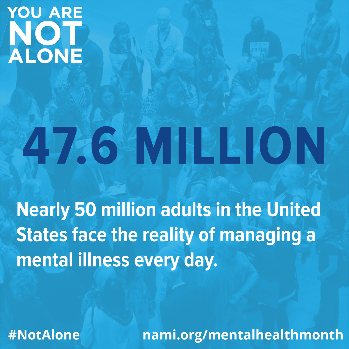 47.6 million adults manage mental illness
